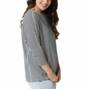 AnyBody Cozy Knit Striped Dolman Sleeve Top 3932